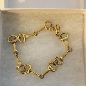 Gold plated Horsebit bracelet